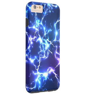 Relámpago de Tunderstorm del cielo nocturno Funda Resistente iPhone 6 Plus