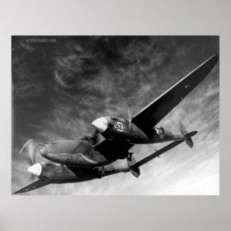 Relámpago de WWII P38 Impresiones