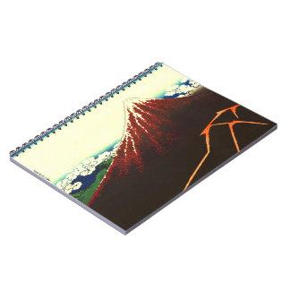 Relámpago debajo de Fuji rojo 1826 Libros De Apuntes