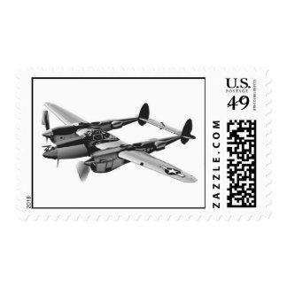 Relámpago del aeroplano P-38 Sello