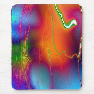 relámpago del arco iris tapete de ratón