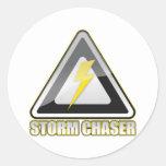 Relámpago del cazador de la tormenta etiquetas