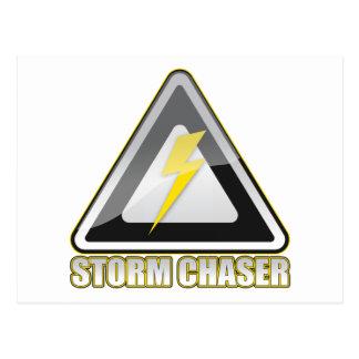 Relámpago del cazador de la tormenta tarjeta postal