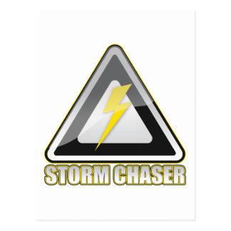 Relámpago del cazador de la tormenta postal