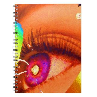 Relámpago del ojo de PopArt al poder de la energía Cuadernos