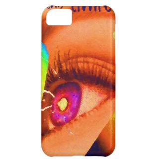 Relámpago del ojo de PopArt al poder de la energía Funda Para iPhone 5C