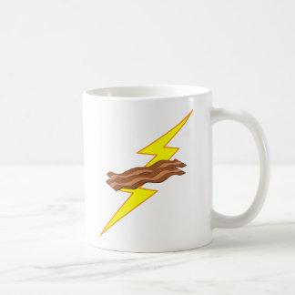 Relámpago del tocino tazas de café
