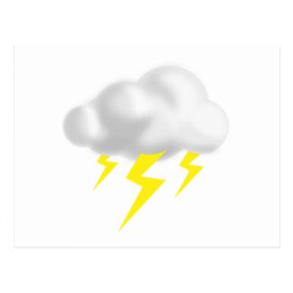 Relámpago en nube de la tempestad de truenos tarjeta postal