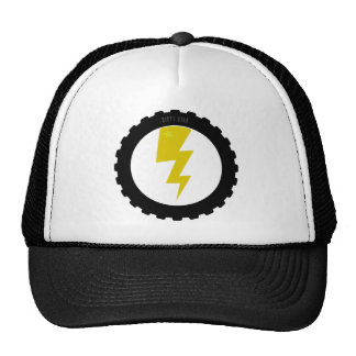Relámpago en un gorra del neumático