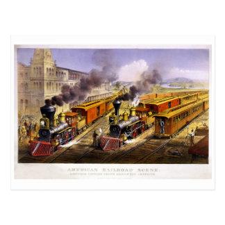 Relámpago expreso: Una escena americana del tren Postales