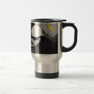 relámpago fluorescente tazas de café