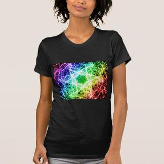 relámpago impresionante del arco iris camiseta
