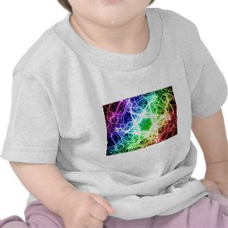 relámpago impresionante del arco iris camisetas