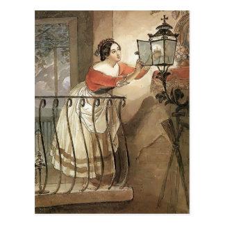 Relámpago italiano de la mujer de Karl Bryullov- u Tarjeta Postal