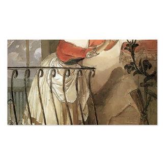 Relámpago italiano de la mujer de Karl Bryullov- u Tarjetas De Visita