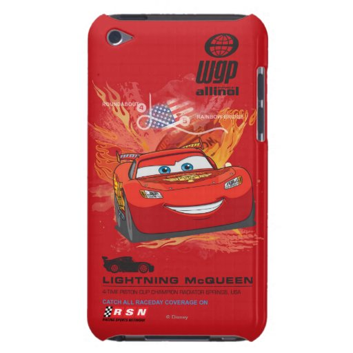 Relámpago McQueen - campeón de la taza del pistón iPod Touch Case-Mate Coberturas