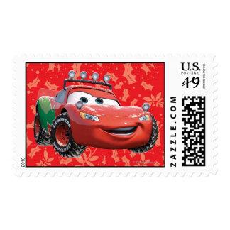 Relámpago McQueen del día de fiesta Timbre Postal
