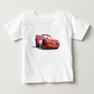 Relámpago McQueen Disney de los coches Playera De Bebé