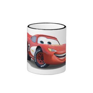Relámpago McQueen Disney de los coches Taza De Dos Colores