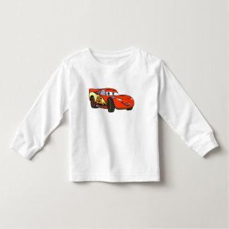 Relámpago McQueen Disney sonriente de los coches Playera De Bebé