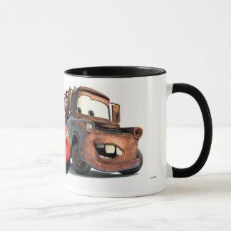 Relámpago McQueen y remolque Mater Disney Taza