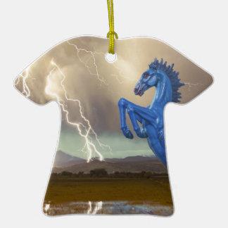 Relámpago preferido Stor del caballo salvaje del Ornamento De Navidad
