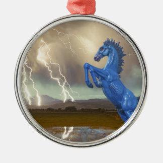 Relámpago preferido Stor del caballo salvaje del Adorno De Reyes