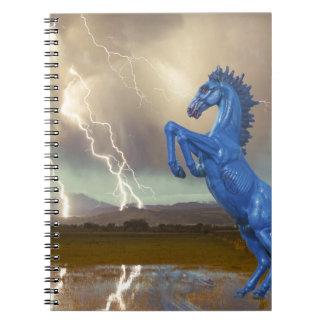 Relámpago preferido Stor del caballo salvaje del m Libro De Apuntes