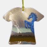 Relámpago preferido Stor del caballo salvaje del m Ornamento De Navidad