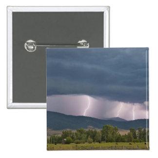 Relámpago producido tempestad de truenos en el Joc Pin Cuadrada 5 Cm