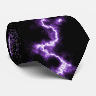 Relámpago púrpura corbatas