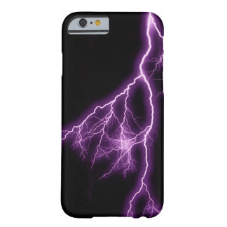 Relámpago púrpura funda para iPhone 6 barely there