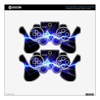 Relámpago que brilla intensamente azul o mando PS3 skins