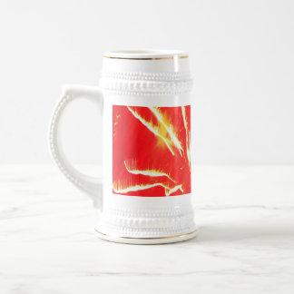 relámpago rojo jarra de cerveza