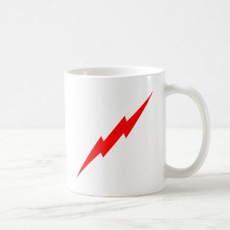 Relámpago rojo taza