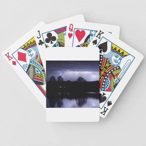 Relámpago sobre el lago coot baraja cartas de poker