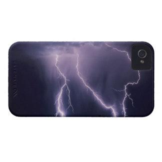 Relámpago sobre el valle de Salt Lake, Utah Case-Mate iPhone 4 Fundas