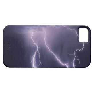 Relámpago sobre el valle de Salt Lake, Utah iPhone 5 Carcasa