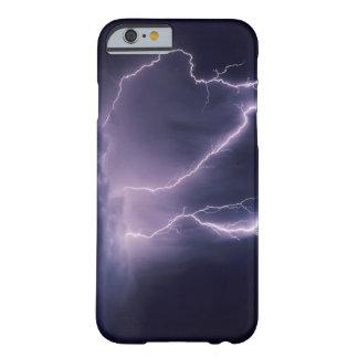 Relámpago sobre el valle de Salt Lake, Utah Funda Barely There iPhone 6