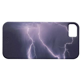 Relámpago sobre el valle de Salt Lake, Utah Funda Para iPhone SE/5/5s