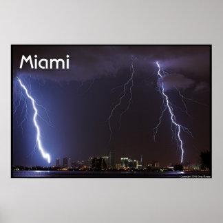 Relámpago sobre Miami Póster