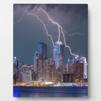Relámpago sobre New York City Placas