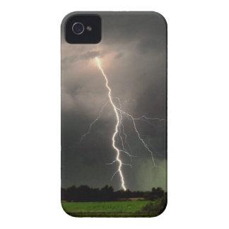 Relámpago There™ de la casamata Intrépida-Desnudo iPhone 4 Case-Mate Protector