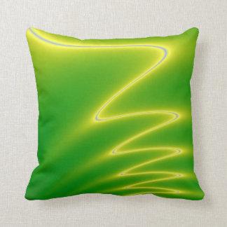 Relámpago verde cojín