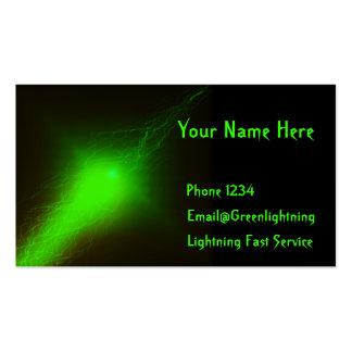 Relámpago verde tarjetas de visita