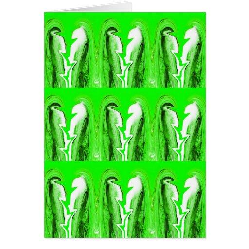 Relámpago verde tarjeta de felicitación