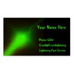 Relámpago verde tarjeta de visita