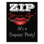 RELAMPAGUE a su fiesta de sorpresa del labio invit Comunicado