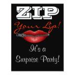 RELAMPAGUE a su fiesta de sorpresa del labio Invitación 10,8 X 13,9 Cm