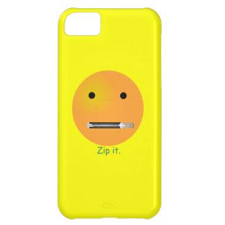 Relampagúelo Emoticon sonriente de la cara Funda iPhone 5C